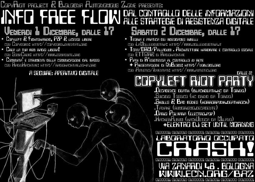 Manifesto della prima edizione di Info Free Flow